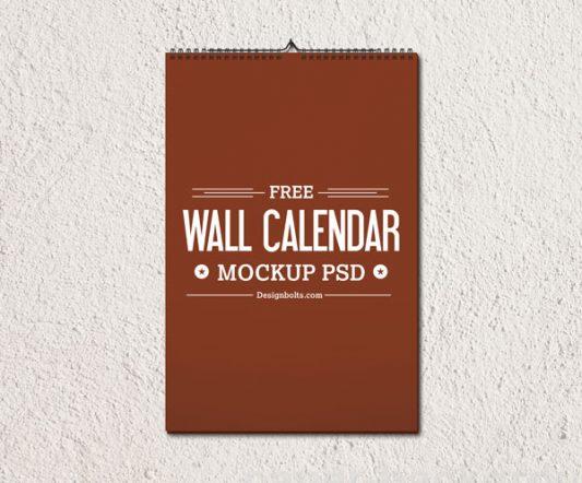 2015 Wall Calendar Template Mockup PSD