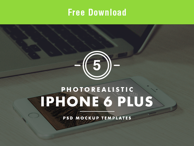 iPhone 6 Plus Free PSD Mockup Templates