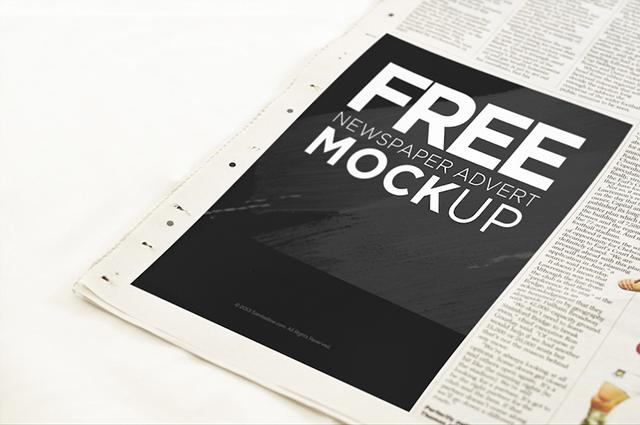 Newspaper Advertisement Mockup PSD Freebie