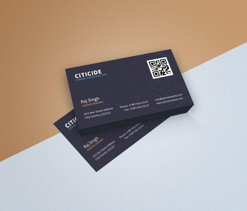 Download elegant business card design template and mockup for Elegant business cards templates