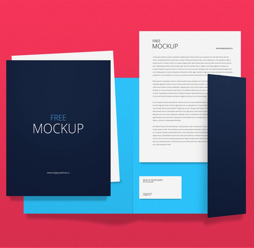 Corporate Identity Branding Stationery Mockup Template PSD
