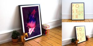 Realistic-Poster-Frame-Free-Mockups-PSD-1000x500