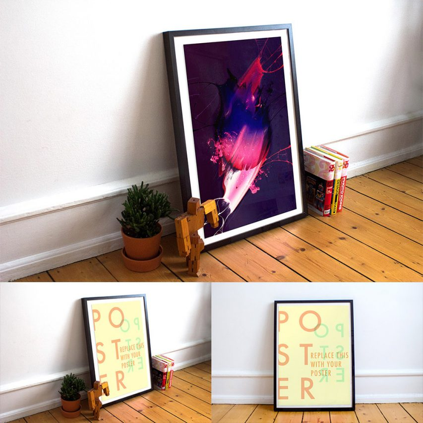 Realistic-Poster-Frame-Free-Mockups-PSD