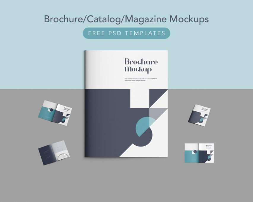 brochure design templates free download psd - brochure catalog magazine mockups free psd templates
