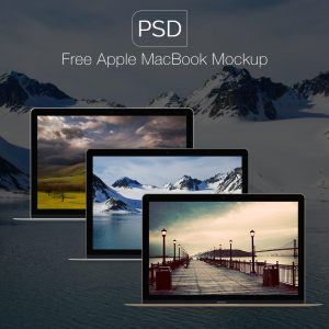 Apple Macbook Mockups Free PSD