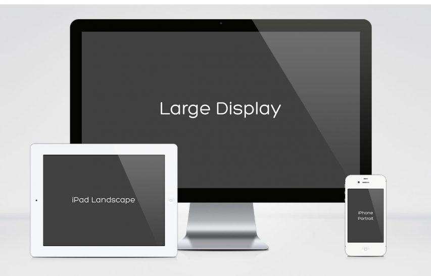 Apple Multi Device Mockup Free PSD