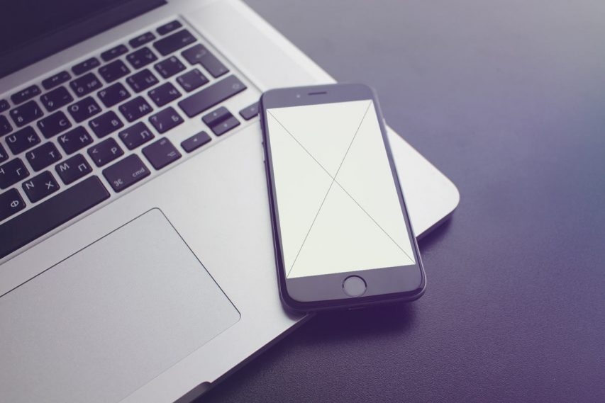 Black IPhone Mockup Free PSD