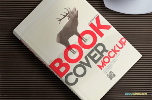 Book Cover Design Mockup Free PSD