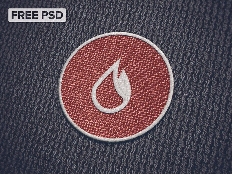 Cloth Patch Mockup Free PSD