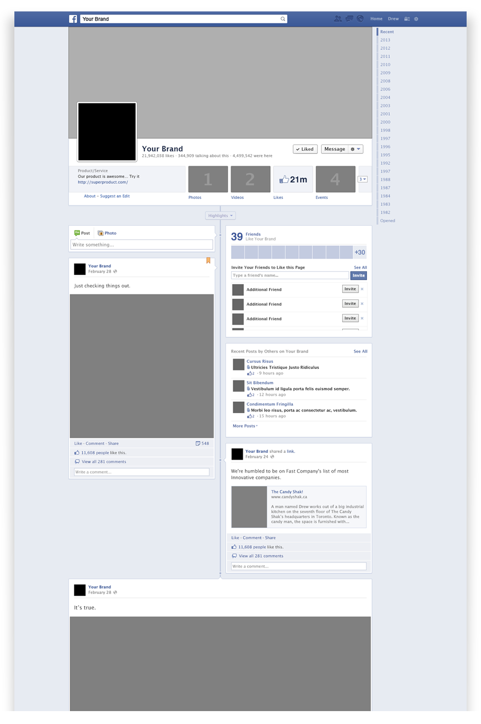 Blank Facebook Post Template from downloadmockup.com