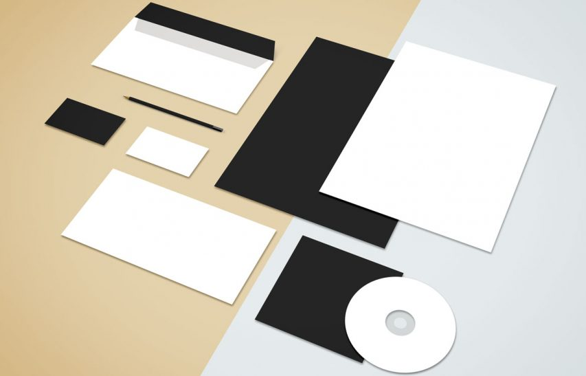 Flat Stationery Mockup Free PSD