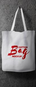 Hanging Cotton Bag Mockup Free PSD