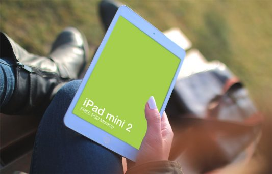 Ipad Mini 2 Mockup Free PSD