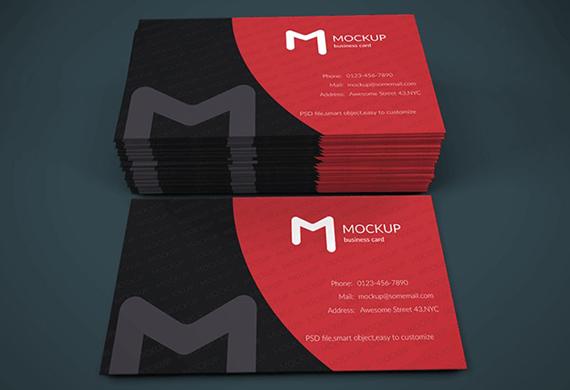 Modern Business Card Mockup Template Free PSD