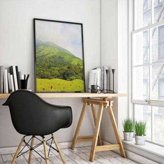 Modern Poster Frame Mockup Free PSD