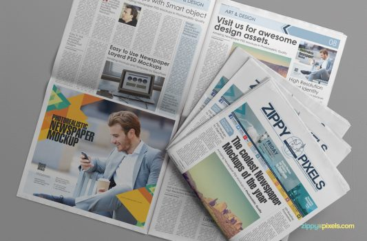 Newspaper Advertisement Mockup Free PSD