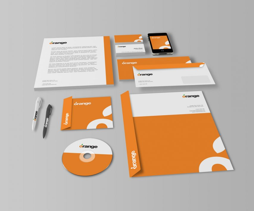 office stationery mockup free psd