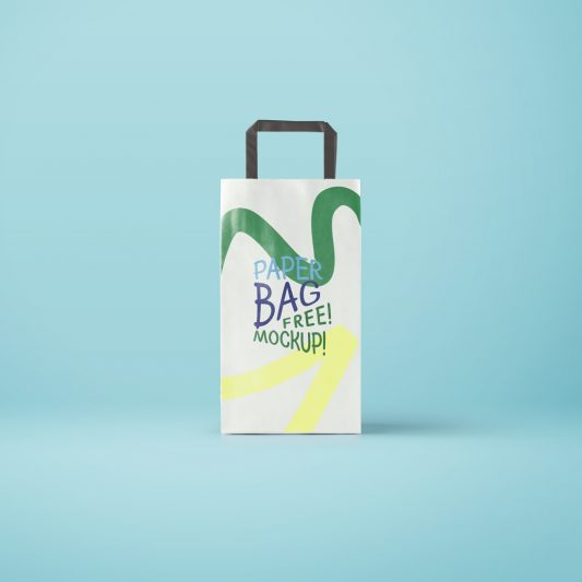 Paper Bag Packaging Mockup Free PSD