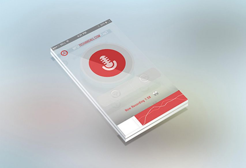 Phone Transparent Screen Mockup Free PSD