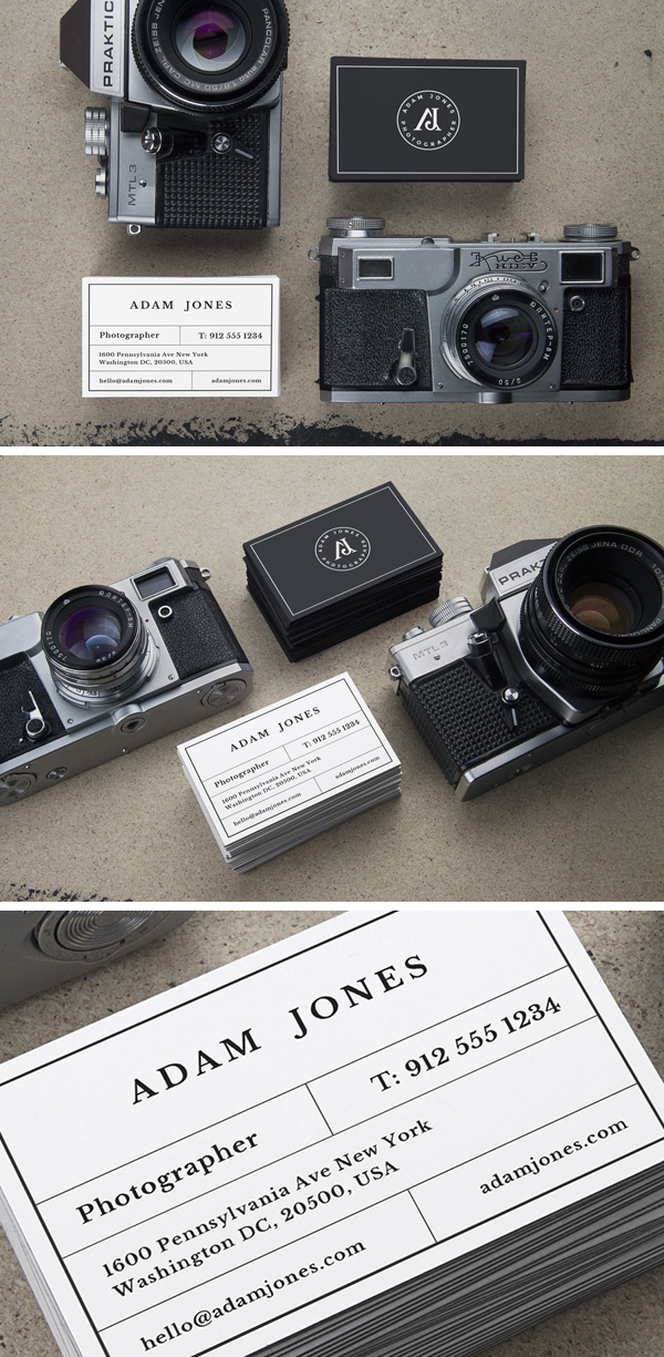 Photographer Business Cards Mockups Free PSD
