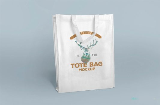 Realistic Carry Bag Mockup Free PSD