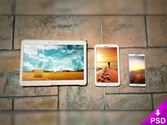 Samsung Devices Mockup Free PSD