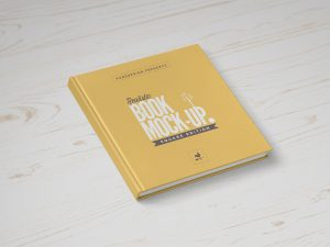 Square Book Mock-Up Free PSD