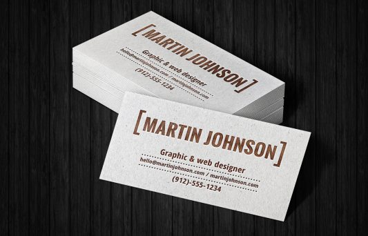 Stack Business Cards Mockup Free PSD