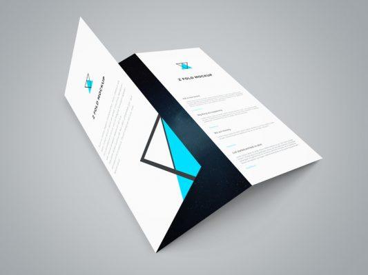 Tri Fold Brochure Mockup Template Free PSD