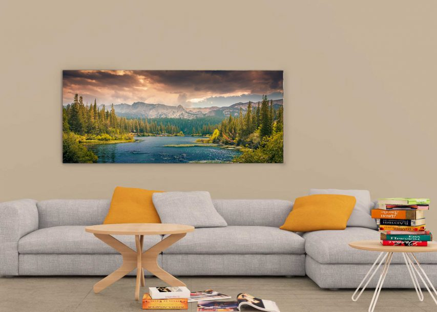 Ultrawide Wall Art Frame Mockup Free PSD