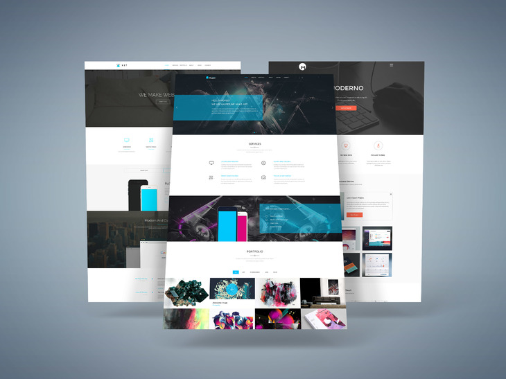 Web screens mock up vol2 | psd mock up templates | pixeden.