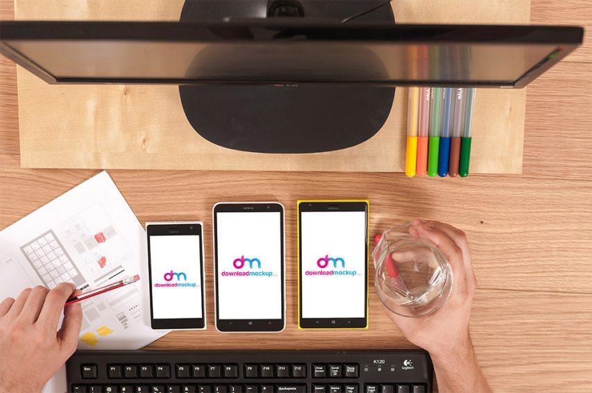 Window-smartphones-on-table-free-PSD-mockups