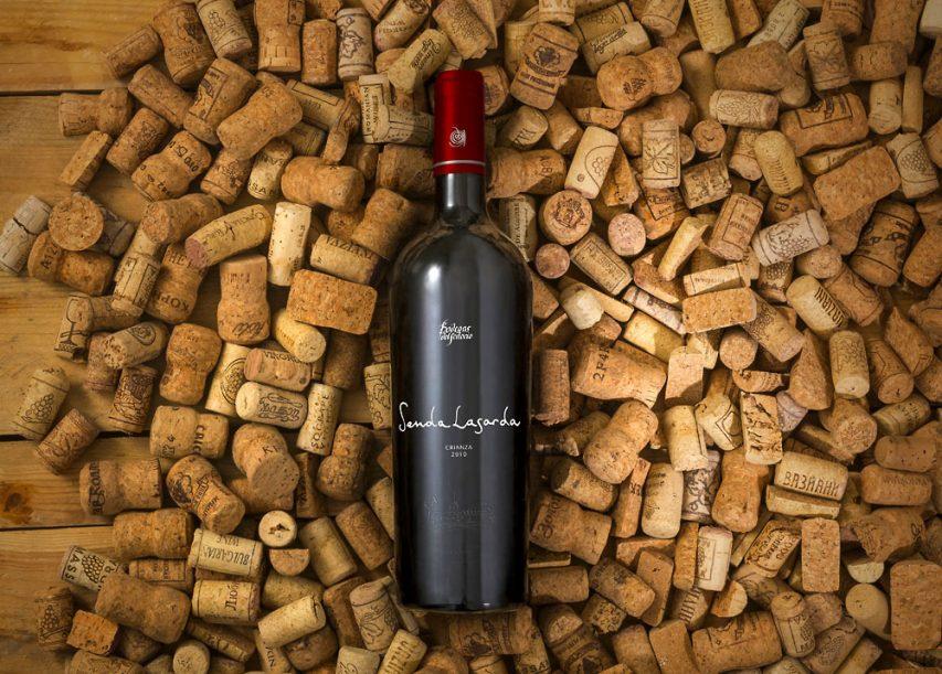 Wine Bottle and Corks Mockup Free PSD