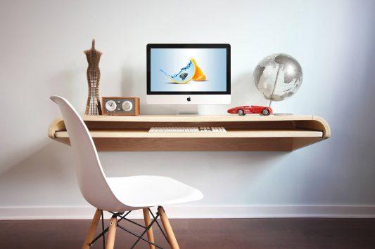 iMac Desk Mockup Free PSD Free PSD
