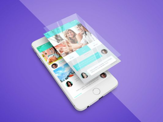 iPhone App Screen PSD Mockup Free PSD