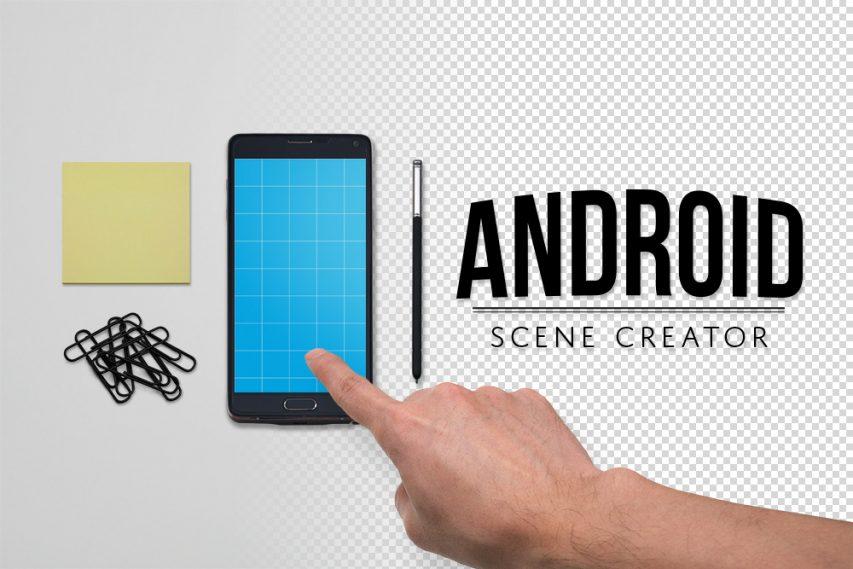 Android Custom Scene Creator Mockup Free PSD