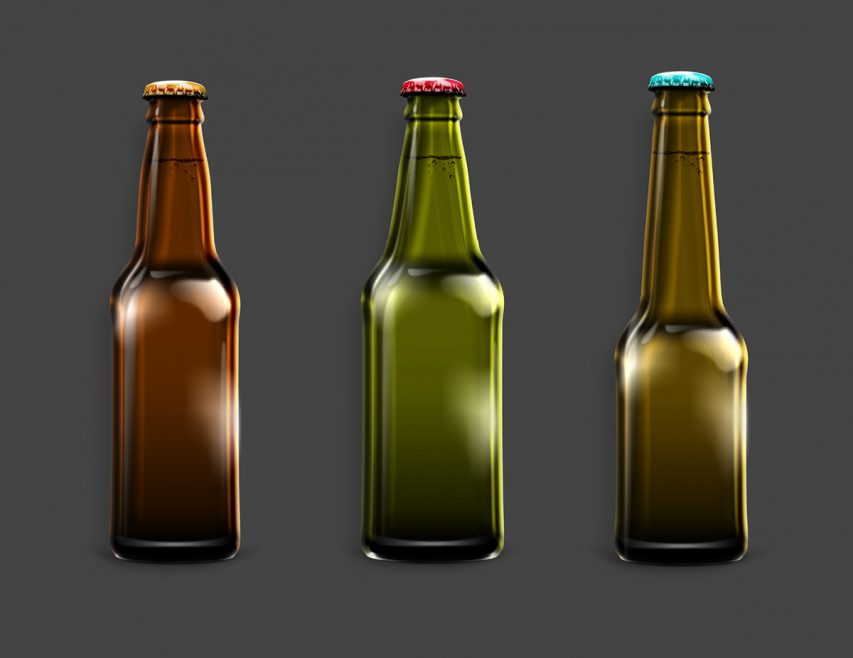 Beer Bottle Mockup Free PSD