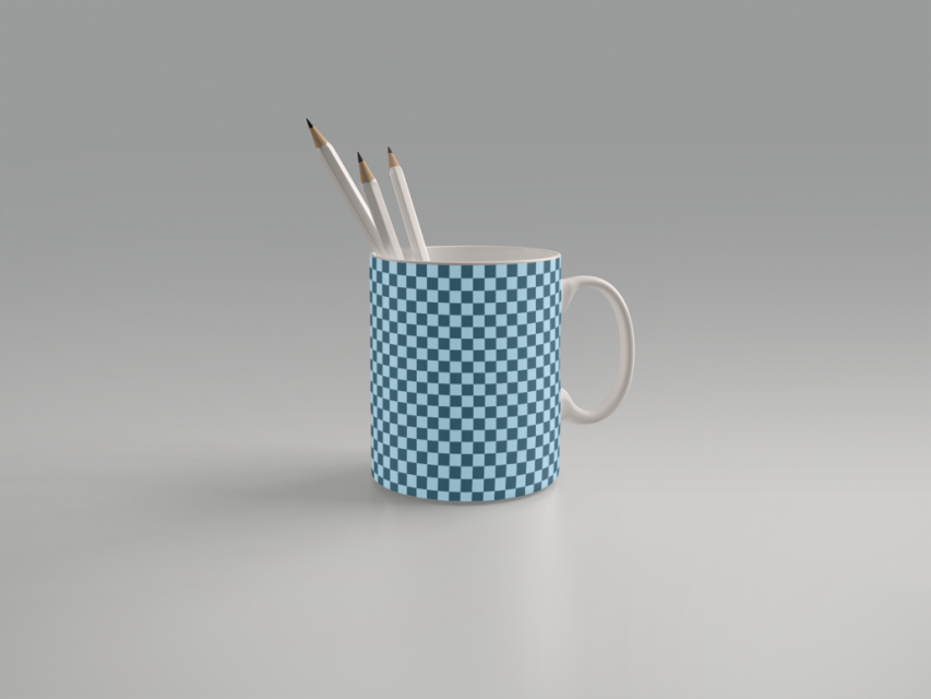 Coffee Mug Pencil Stand Mockup Free PSD