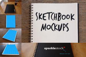 Photorealistic Sketchbook Mockup Free PSD