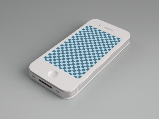 iPhone 4 Mobile Mockup Template Free PSD