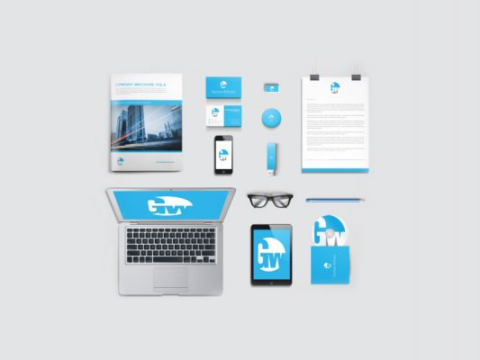 Corporate Branding and Identity Mockups Free PSD