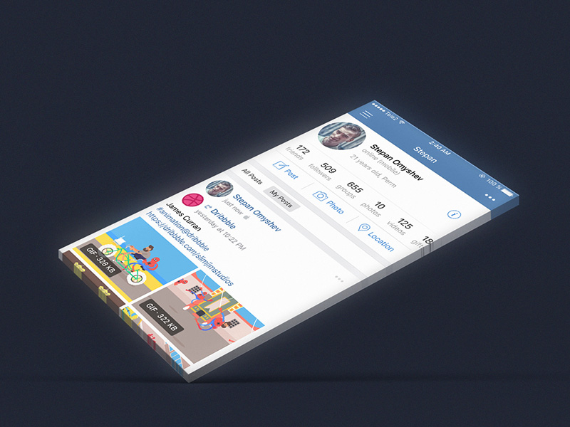 Mobile Application Screen Mockup Free PSD