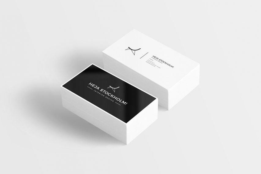 Flat Business Card Mockup Free PSD