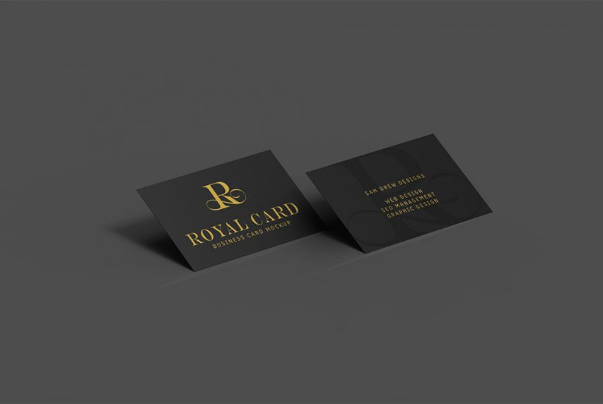 Dark business card mockup psd download mockup dark business card mockup psd reheart Image collections