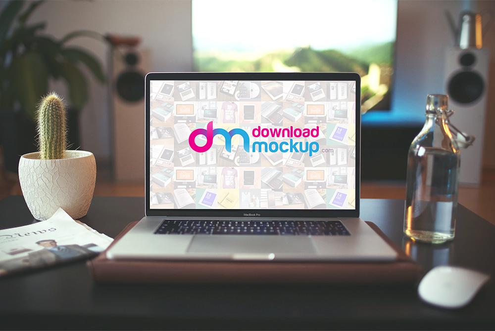 New Macbook Pro 2017 Mockup Free PSD