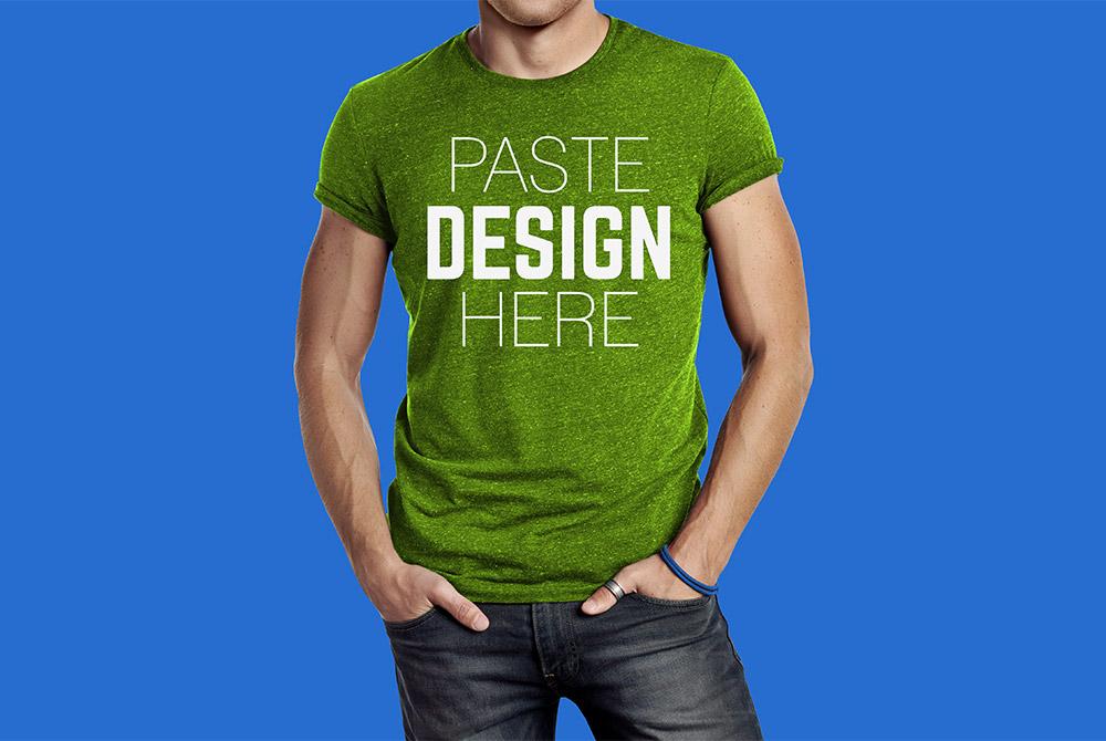 male t shirt mockup free psd download mockup