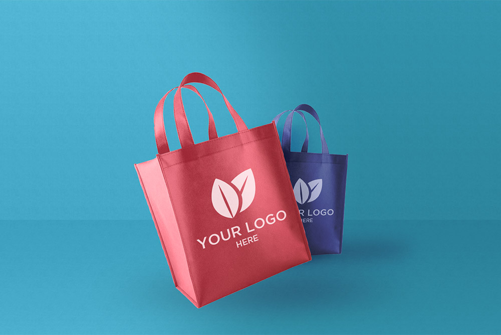 Fabric Shopping Bag Mockup Free