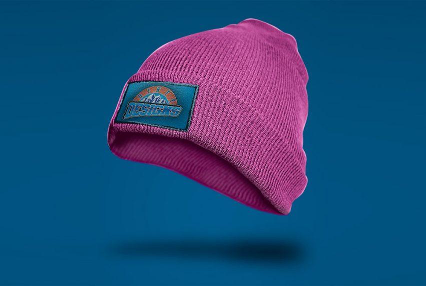 Шерстяная шапка макет бесплатно PSD