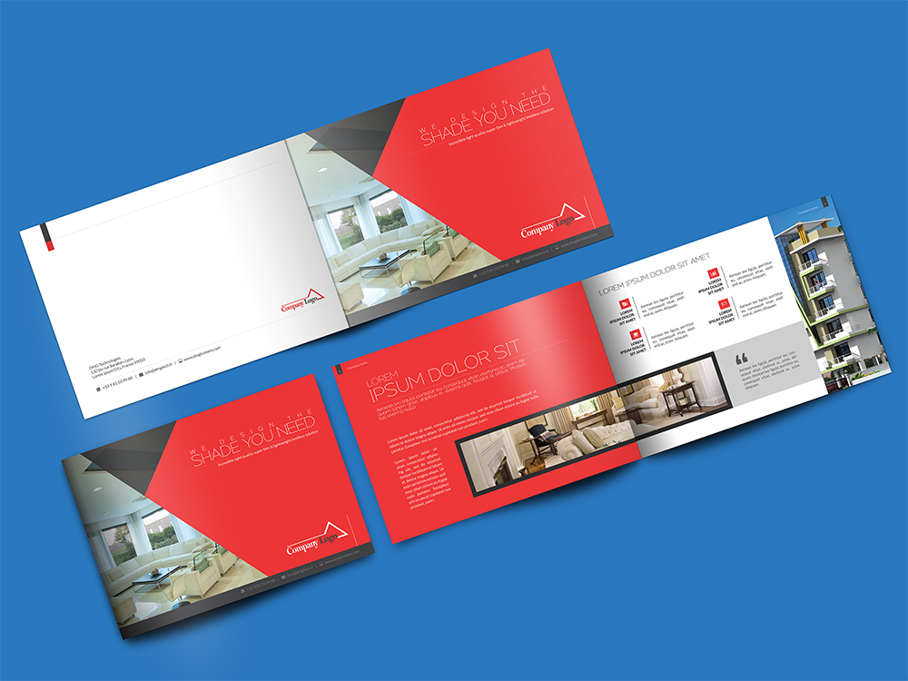 Landscape brochure mockup psd download mockup for Psd brochure templates free download