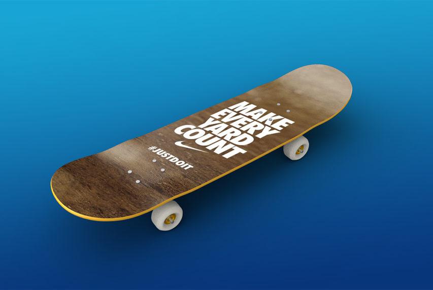 Skateboard Mockup Free PSD